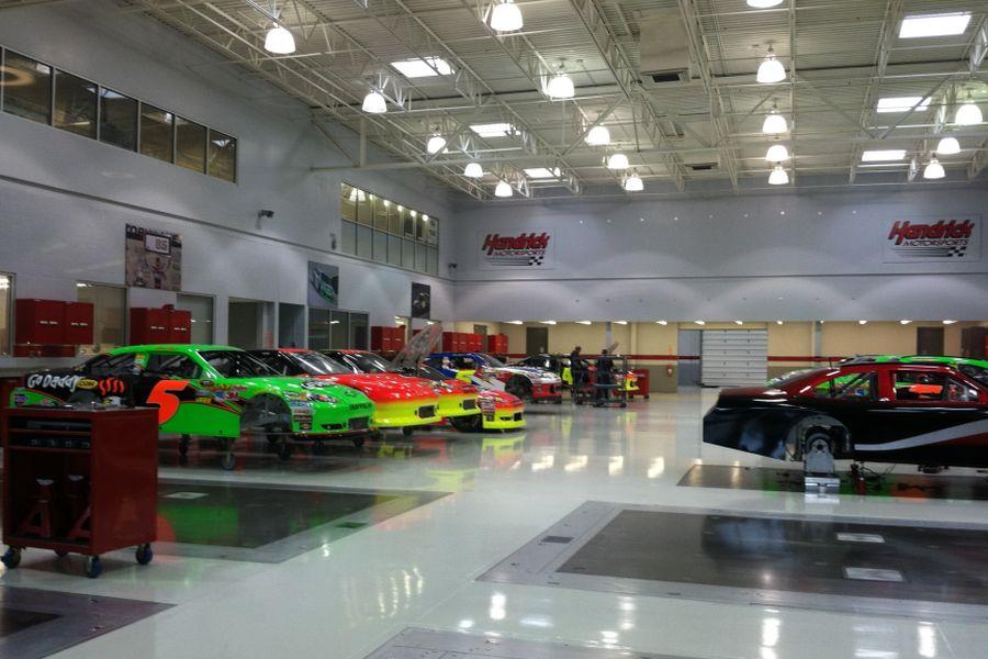 Hendrick Motorsports workshop, Charlotte, North Carolina