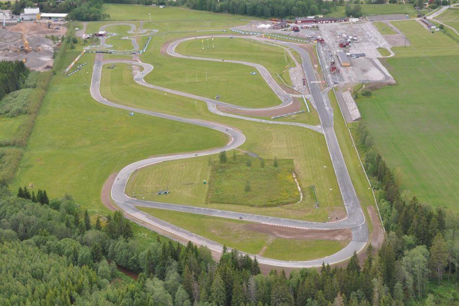 Aerial view to Karlskoga Motorstadion
