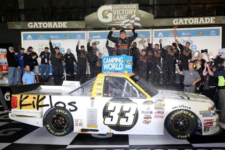 Kaz Grala, Truck Series race winner at Daytona