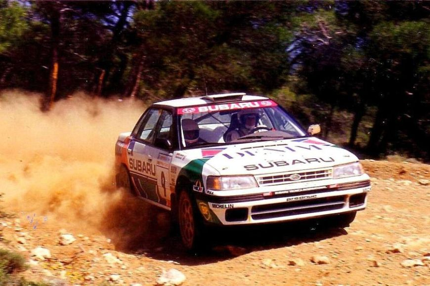 Colin McRae at 1992 Acropolis Rally