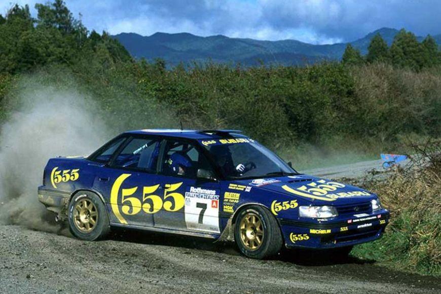 Colin McRae at 1993 Rally New Zealand, Subaru Legacy RS
