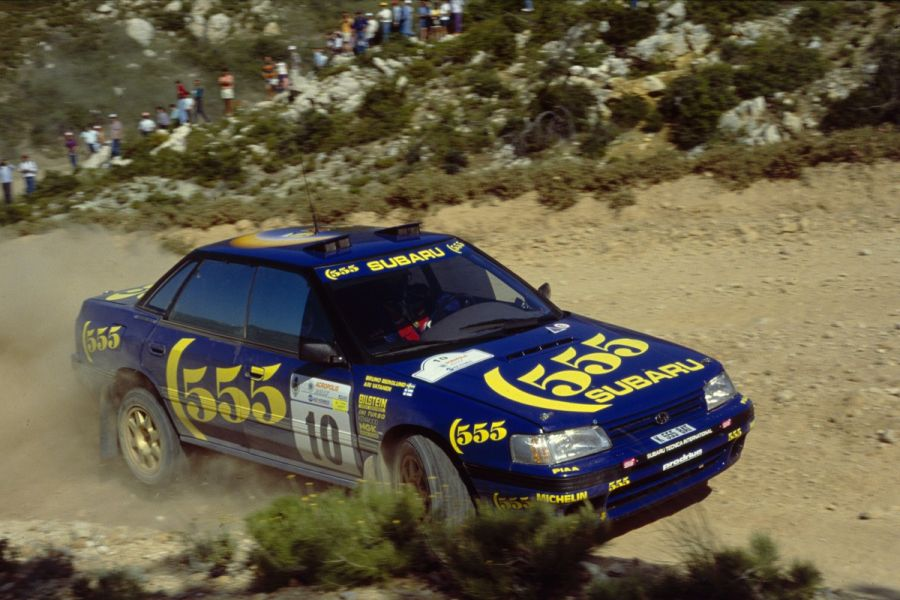 Ari Vatanen at 1993 Acropolis Rally, Subaru Legacy RS