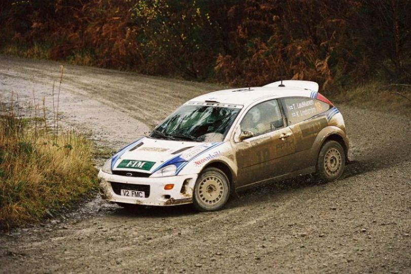Tapio Laukkanen at 2000 Rally GB, Ford Focus RS WRC