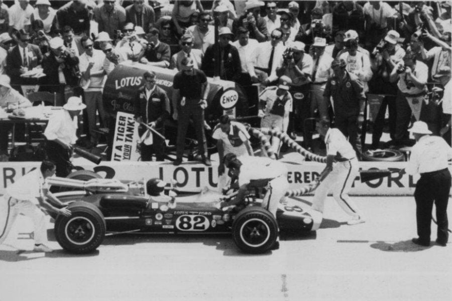 WBR pit crew helped Jim Clark to win the 1965 Indianapolis 500