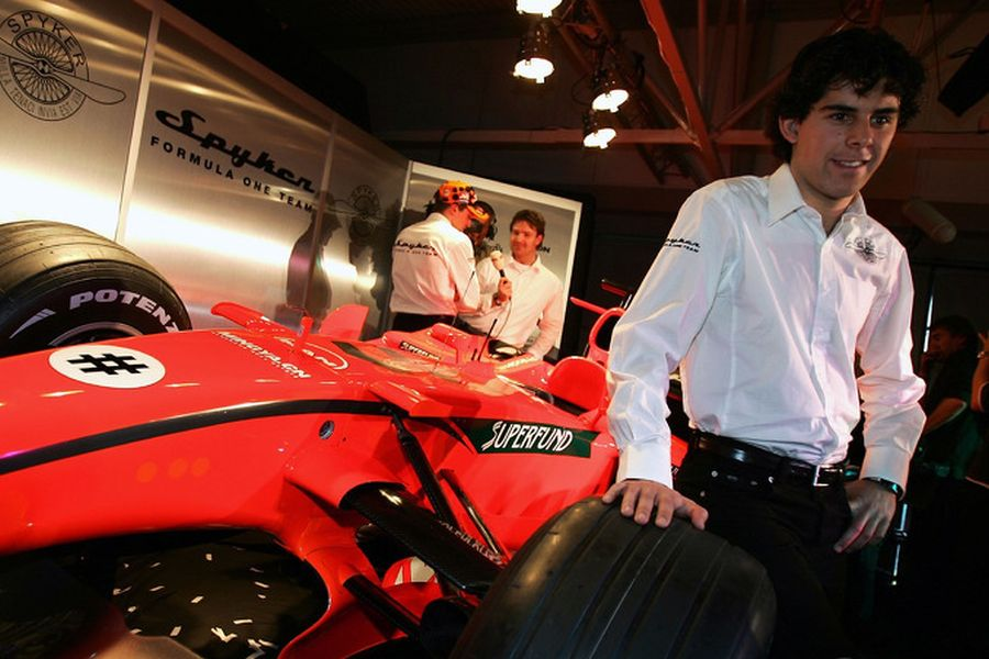 Spyker test driver Adrian Valles in 2007