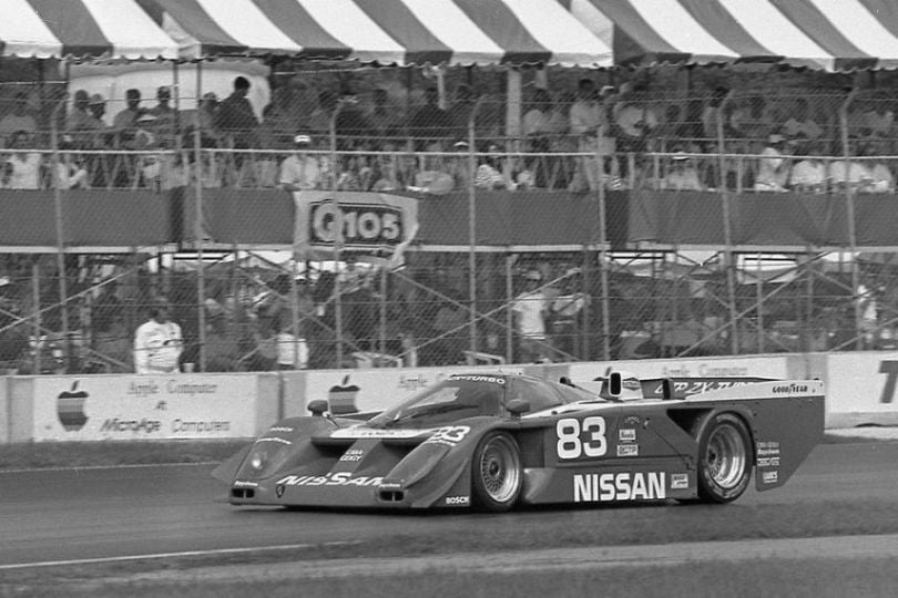 The #83 Nissan GTP ZX-T in 1989