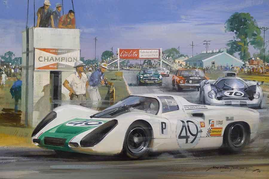 Porsche 907 racing cars 1968 sebring