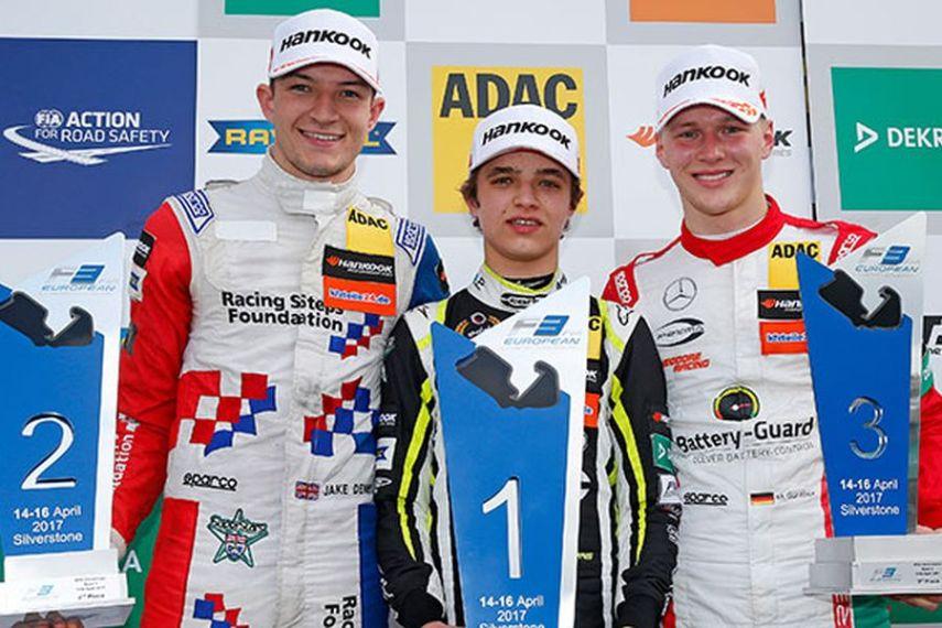 2017 Formula 3 European Championship, Silverstone, Race 1 podium