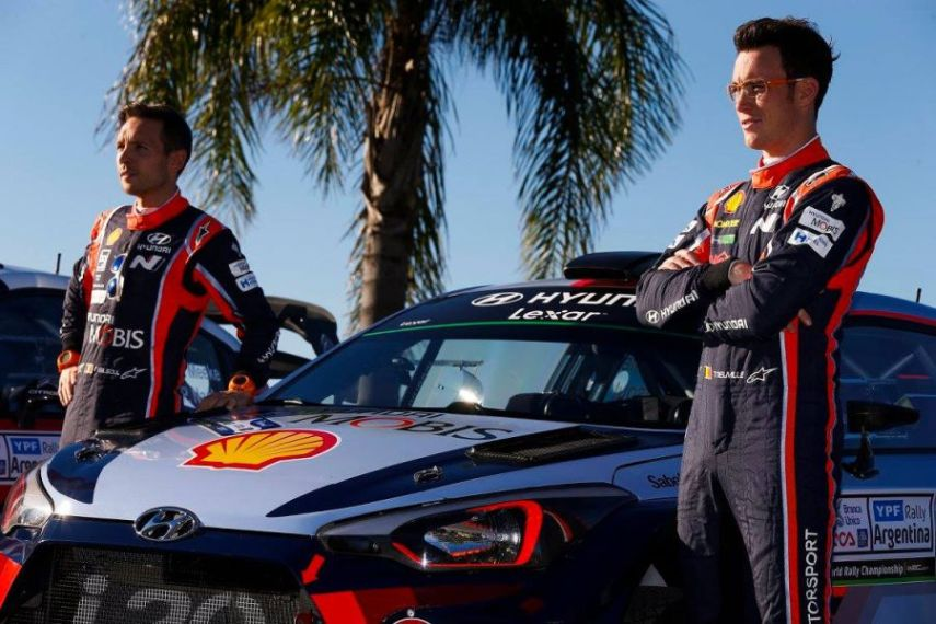 Nicolas Gilsoul and Thierry Neuville at Rally Argentina