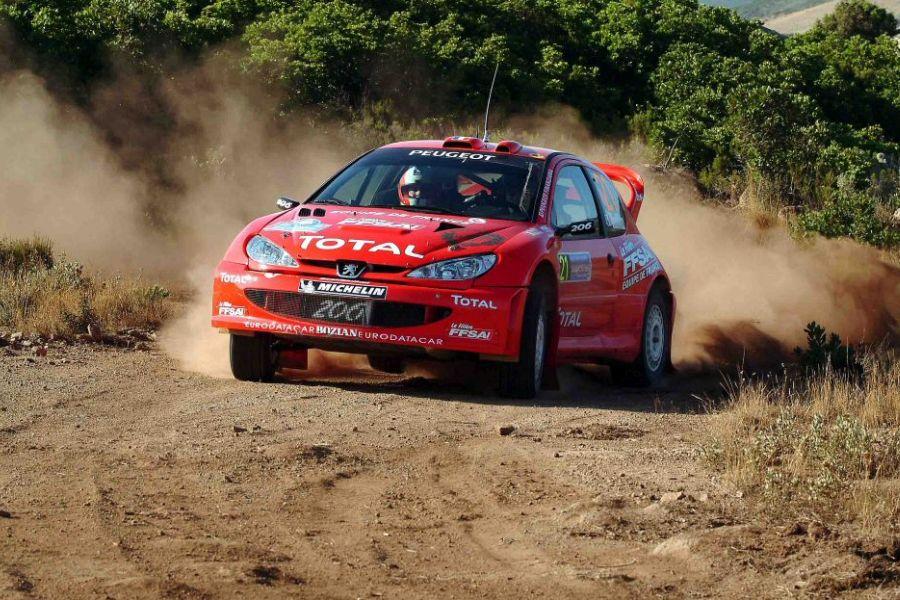 Nico Vouilloz was driving Bozian Racing's Peugeot 206 WRC in 2004 WRC season
