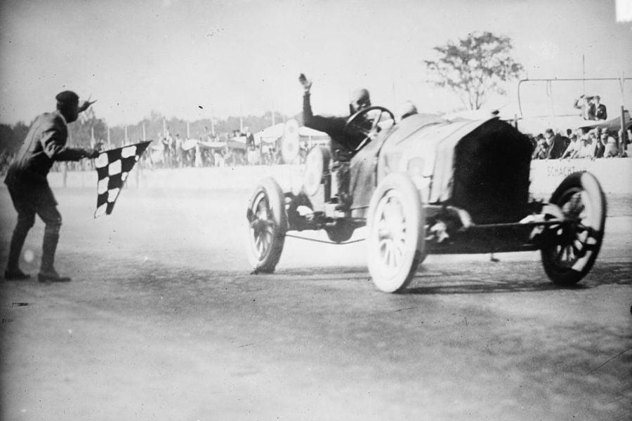 Joe Dawson,Indianapolis 500 winner, 1912, black and white