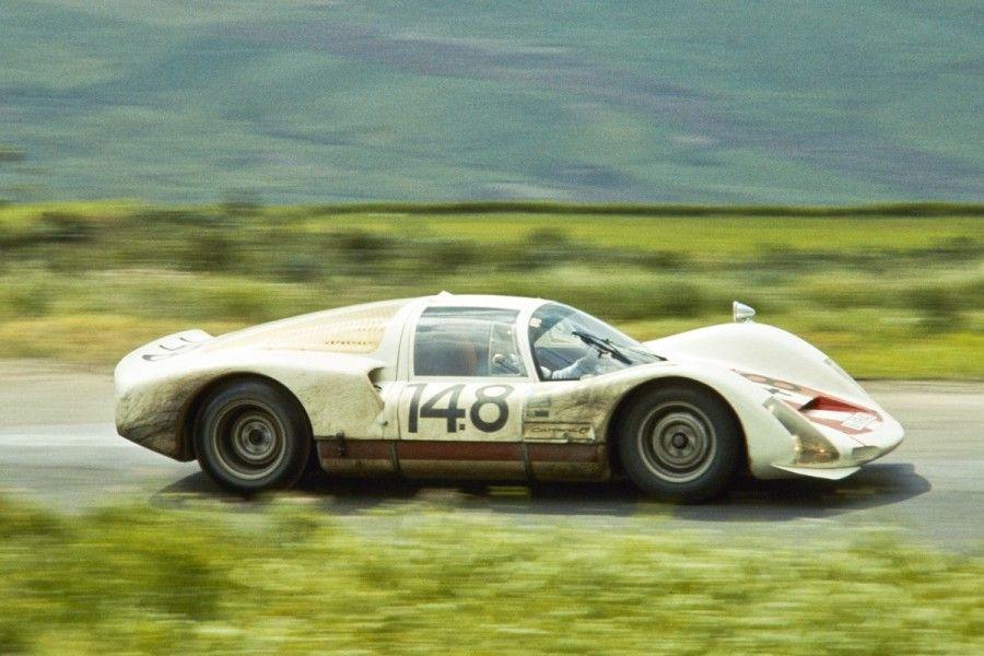 Herbert Müller's #148 Porsche 906 Carrera 6 at 1966 Targa Florio