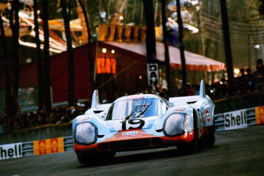 Herbert Müller and Richard Attwood finished second at 1971 Le Mans in the #19 Porsche 917K
