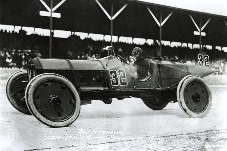 1911 Indianapolis 500, Ray Harroun, Marmon Wasp, black and white