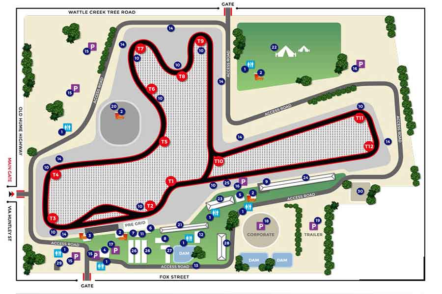Winton Motor Raceway map layout view