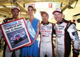 2017 24h Le Mans, pole position for Toyota, track record Kamui Kobayashi