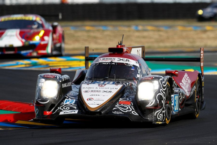 The #38 Jackie Chan DC Racing's Oreca finished in the second place overall