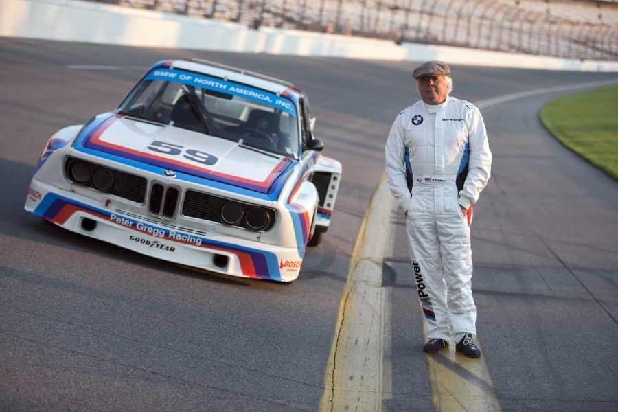 Brian Redman on track with the #59 BMW 3.0 CSL