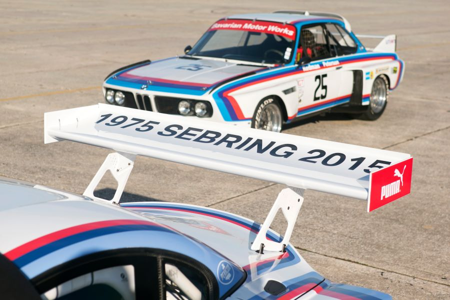 BMW 3.0 CSL on the track