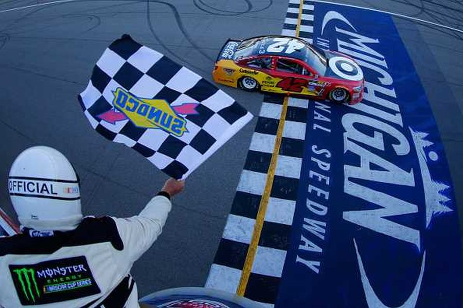 Larson's second win at Michigan International Speedway