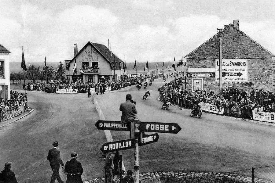The famous Cafe du Circuit at Mettet's road racing track