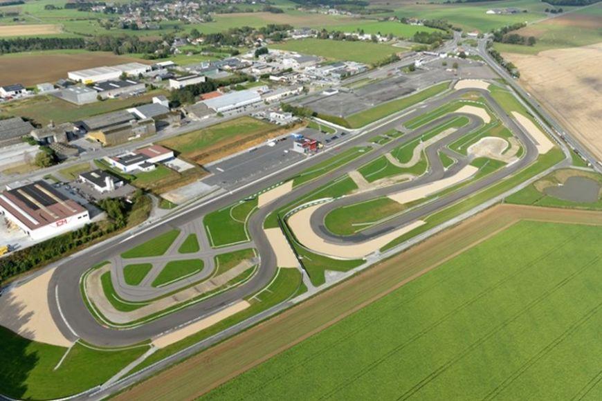 Mettet circuit, aerial view
