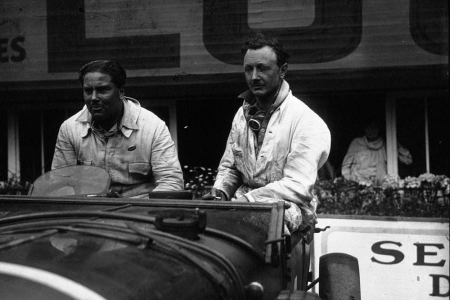 Woolf Barnato and Henry Birkin at 1929 Le Mans