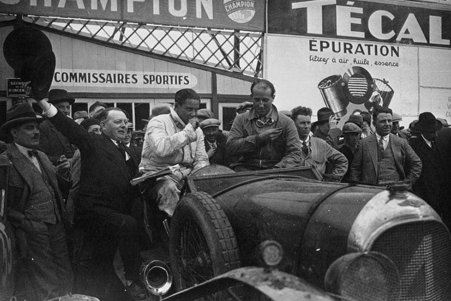 Woolf Barnato and Bernard Rubin at 1928 Le Mans