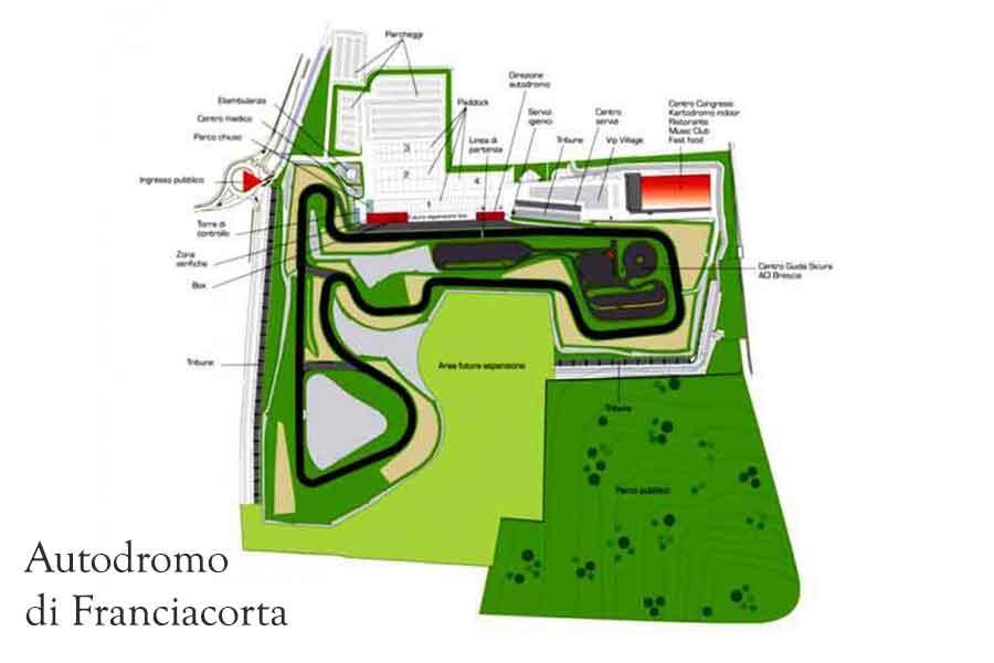 Autodromo di Franciacorta map/track layout