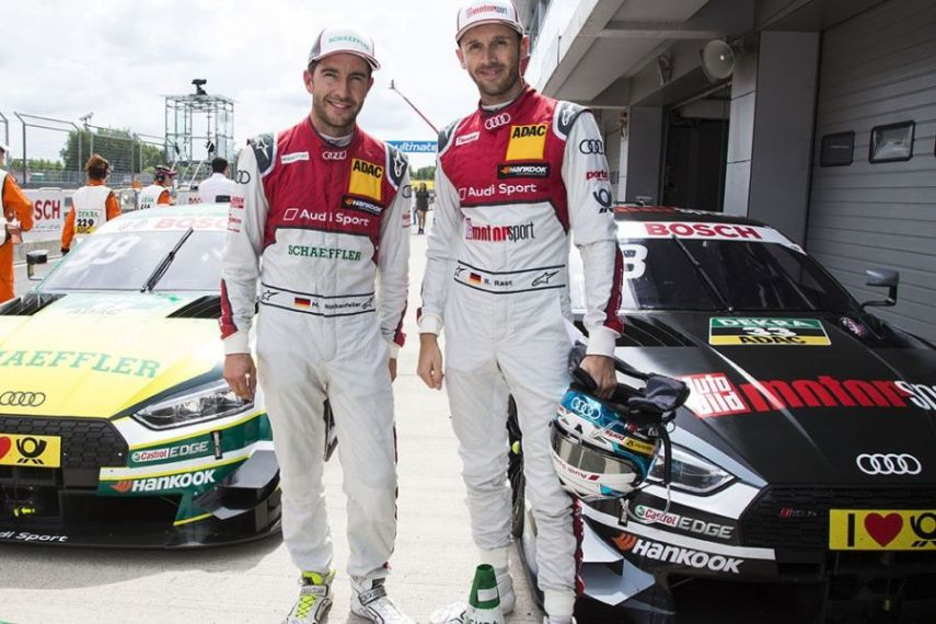Mike Rockenfeller and Rene Rast, DTM Moscow