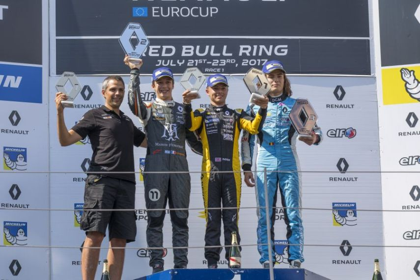 Formula Renault 2.0 Eurocup, round 8 Red Bull Ring Spielberg, race 1 podium