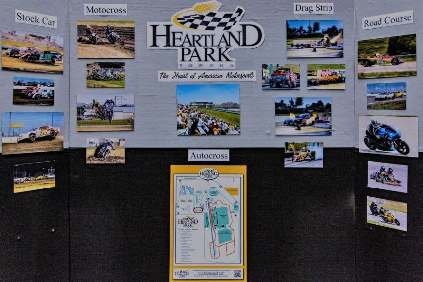 Four different race tracks on Heartland Park Topeka