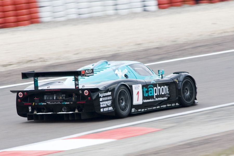 Vitaphone Racing Team's Maserati MC12 racing in FIA GT Championship