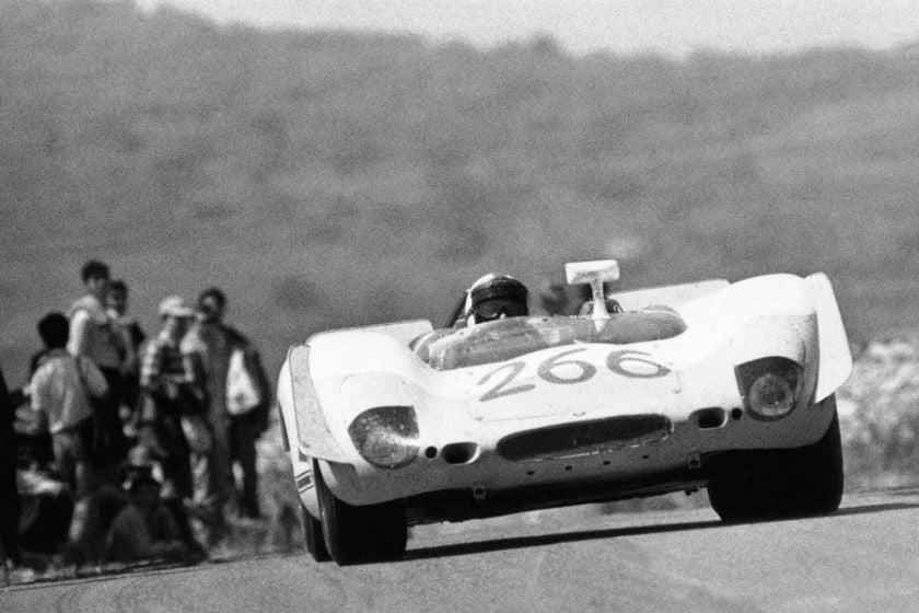Porsche 908/02,Targa Florio,1969, black and white