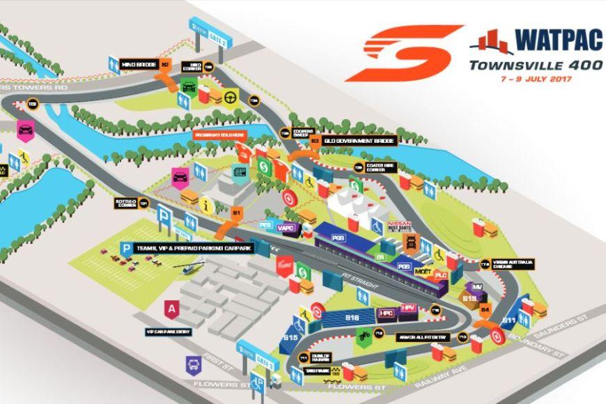 Townsville Street Circuit map