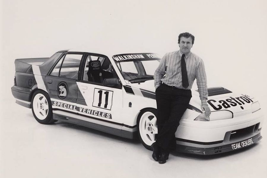 Tom Walkinshaw and the first HSV racing Commodore VL Group A