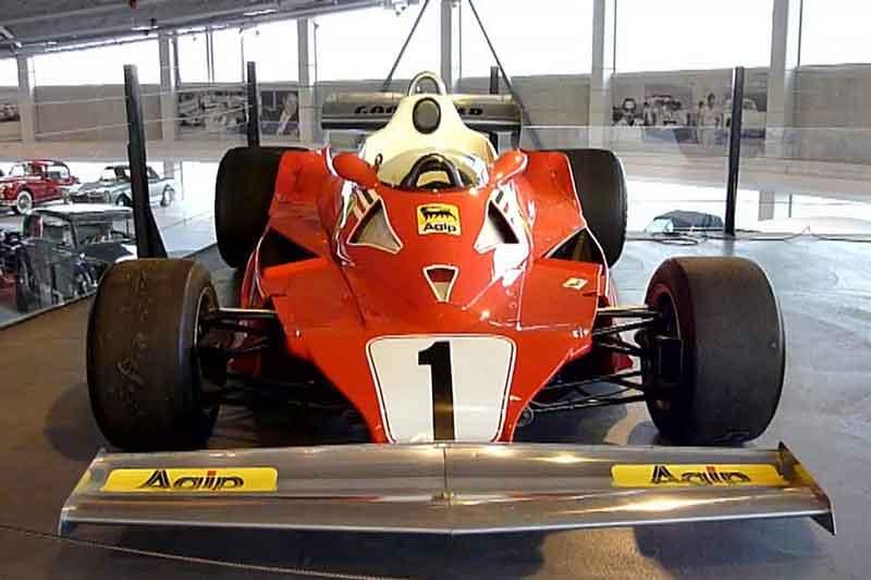 Niki Lauda Ferrari 312T2 exhibited front view