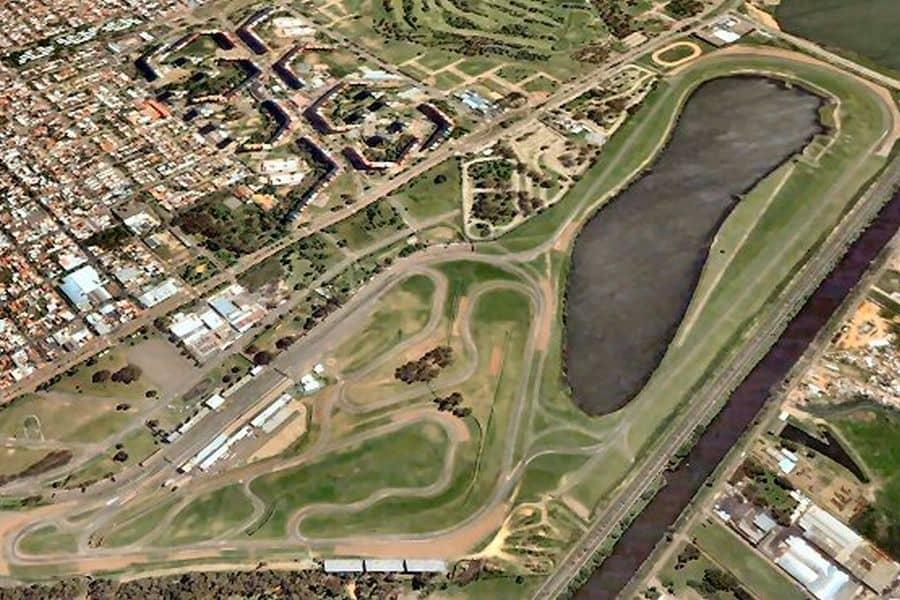 Aerial view at Autodromo de Buenos Aires