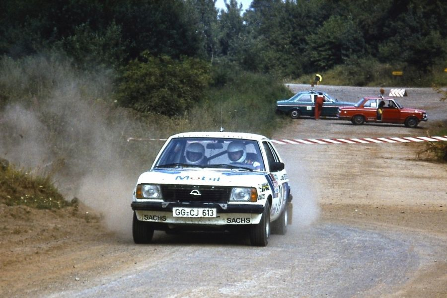 Erwin Weber's Opel Ascona was the victorious car at the 1st Rallye Deutschland