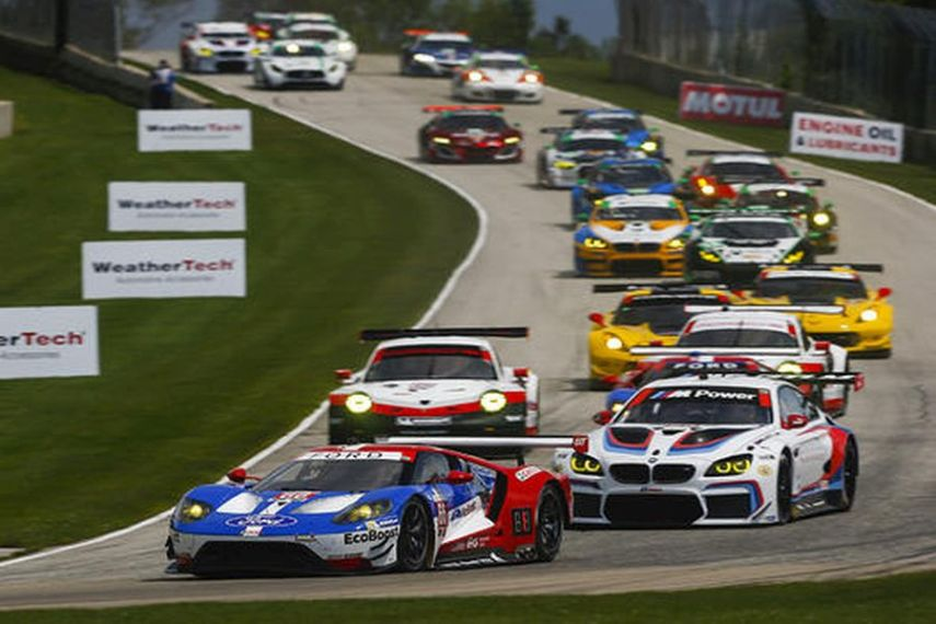 IMSA WeatherTech SportsCar Championship Continental Tire Road Race Showcase Road America, Elkhart Lake, #66, Ford, Ford GT, GTLM, Joey Hand, Dirk Muller