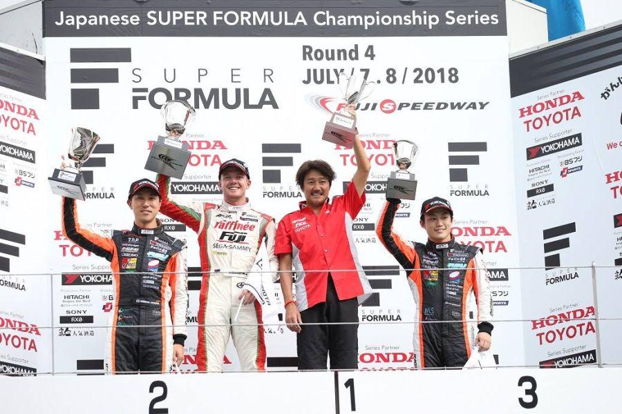 Masahiko Kondo, Nick Cassidy, 2018 Super Formula Fuji