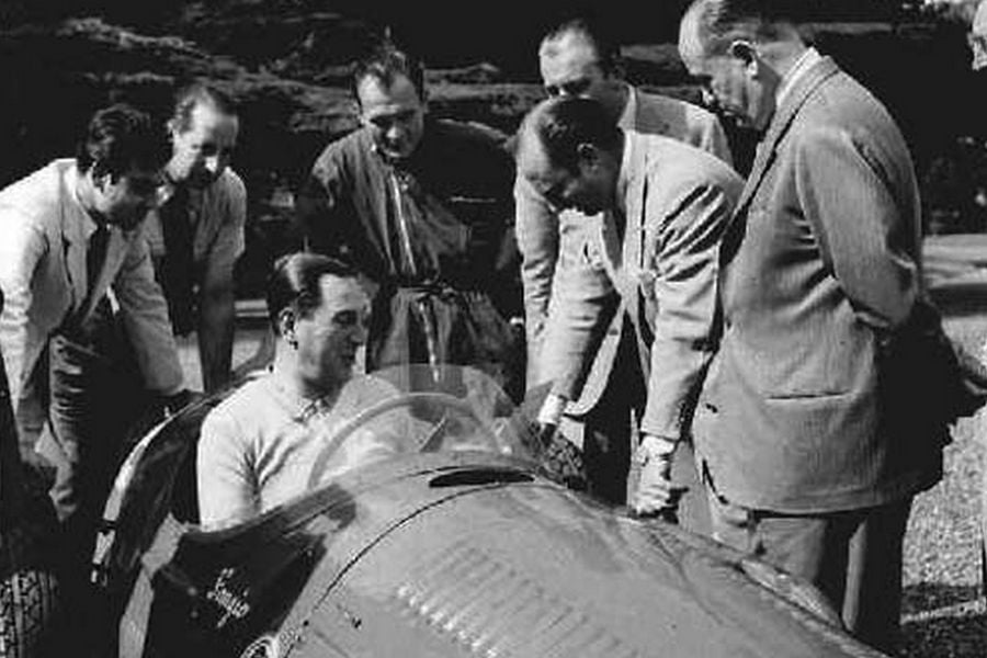 President Peron and Argentinean racing drivers