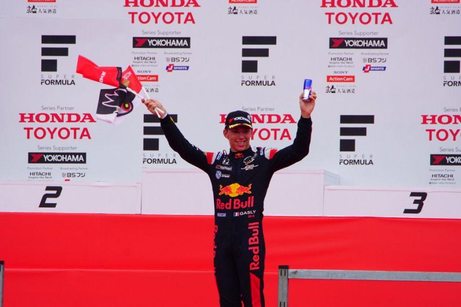 Pierre Gasly wins Super Formula race at Twin Ring Motegi