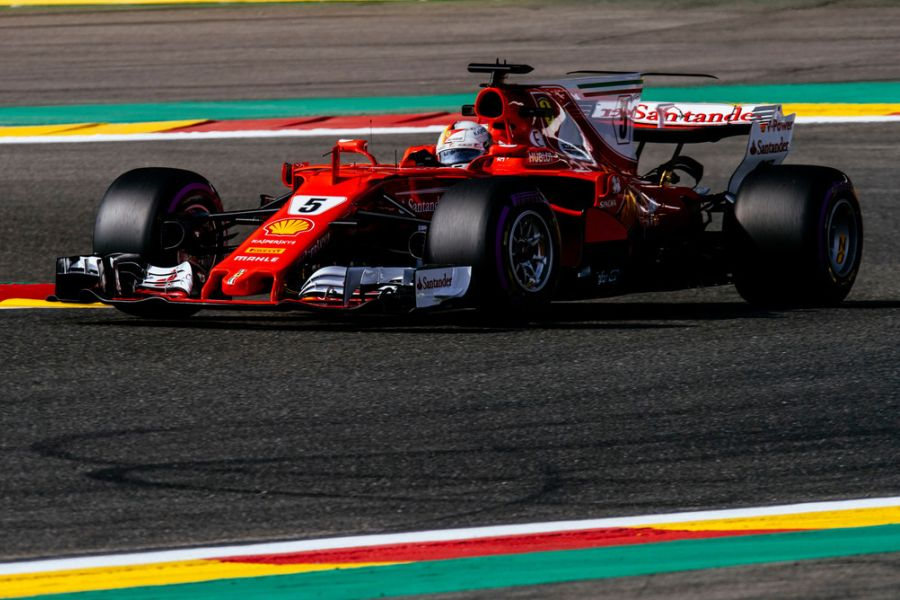 Sebastian Vettel, 2017 Belgian Gran Prix