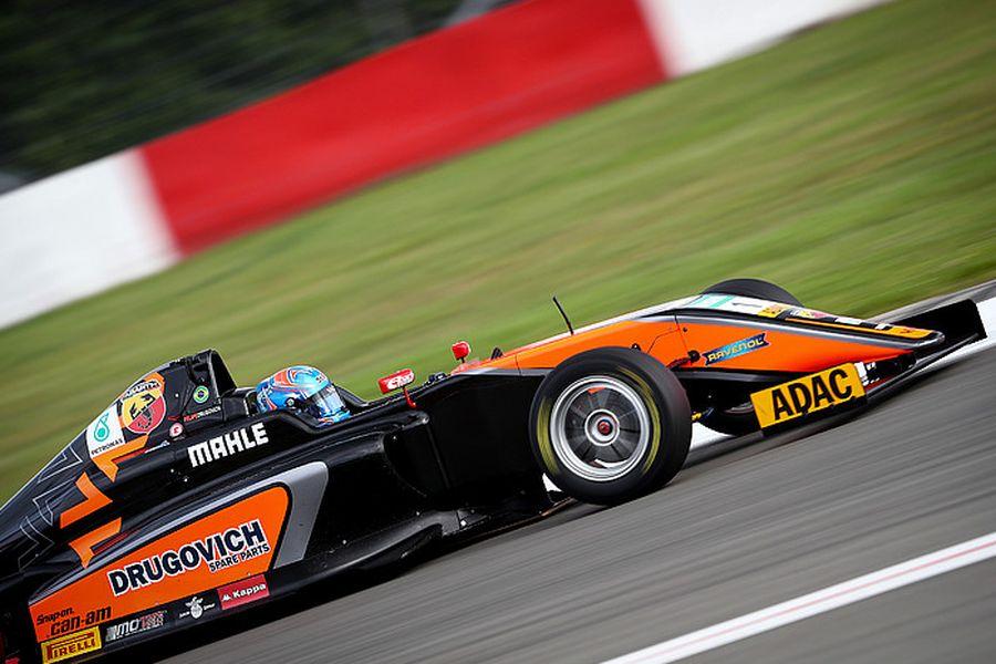 Race 2 winner Felipe Drugovich