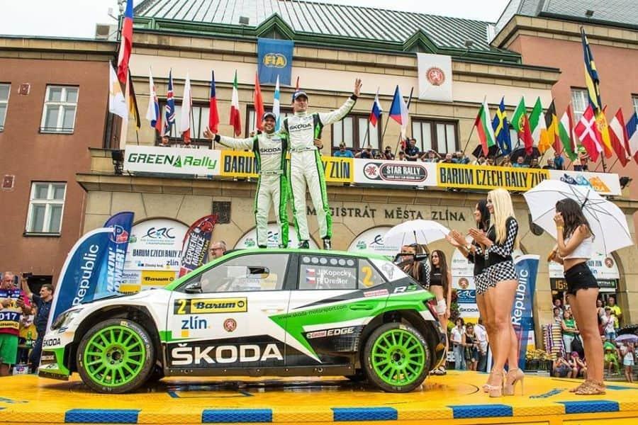 Jan Kopecky, Pavel Dresler, 2017 Barum Czech Rally Zlin winners