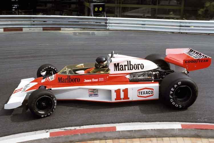 James Hunt McLaren M23 formula Ford Cosworth