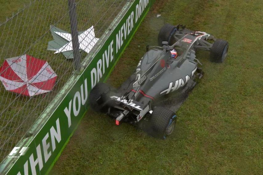 Italian Grand Prix, Q1, Romain Grosjean