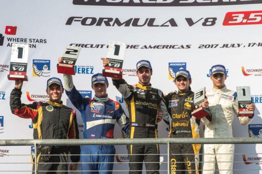 Formula V8 3.5, Circuit of the Americas, race 1 podium