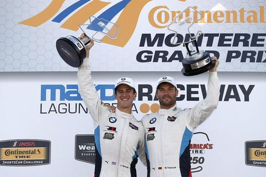 GTLM winners John Edwards and Martin Tomczyk
